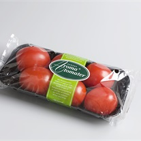 tomatoes - plastic tray with flowpack