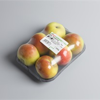 apples - pulp tray with stretch film